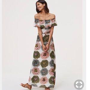 LOFT Dresses - LOFT off the shoulder floral dress